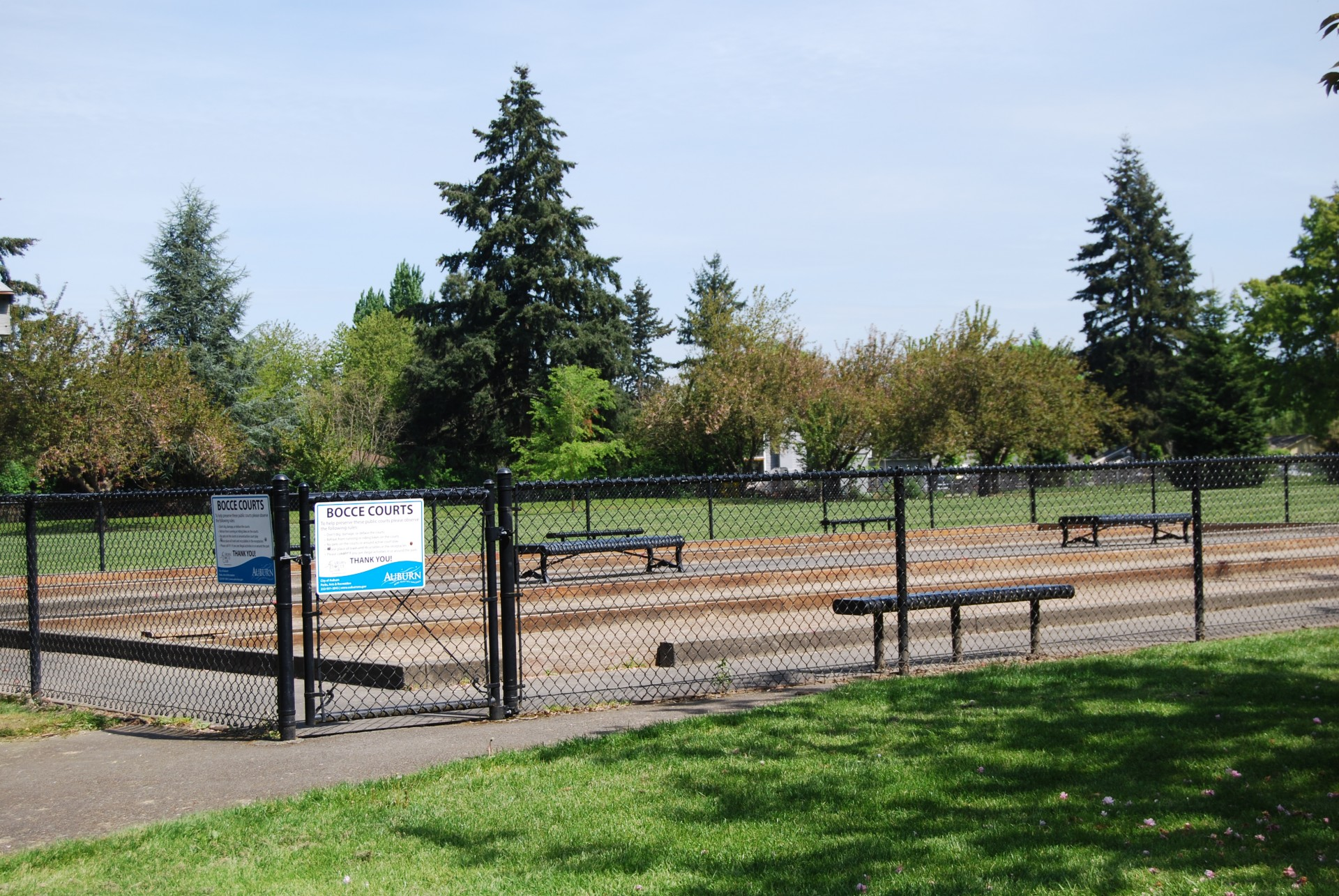 Bocce Courts at Les Gove Park