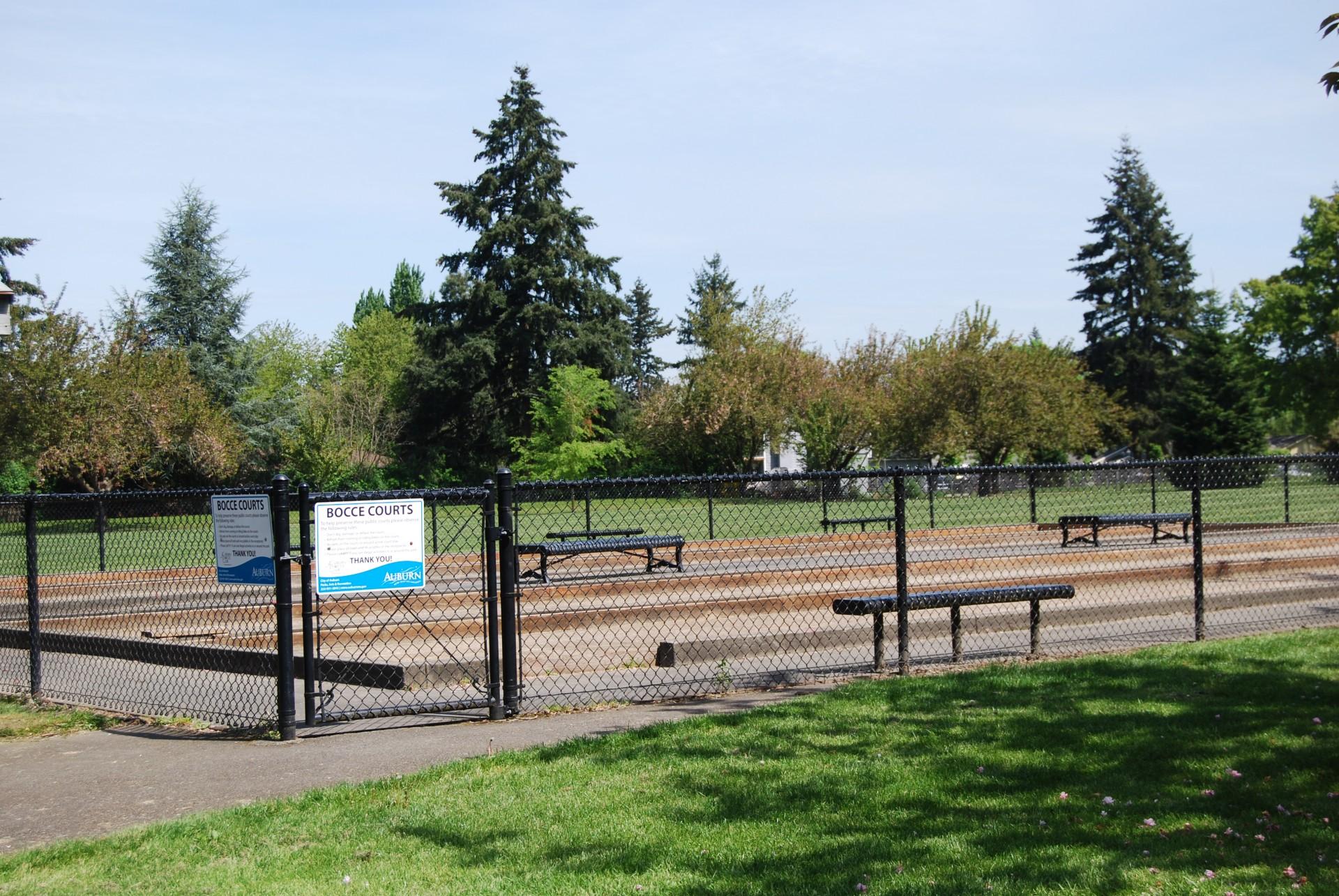 Bocce Courts at Les Gove Park