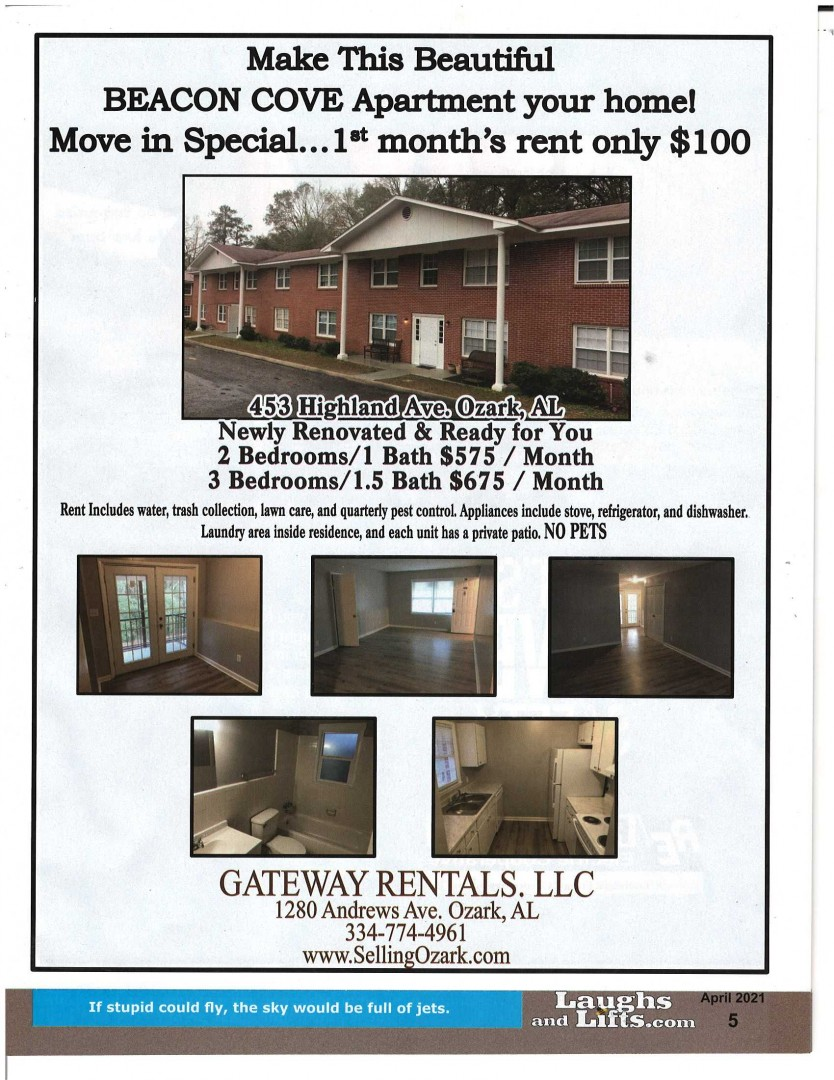 Beacon Cove Apartments 453 C / $575 1