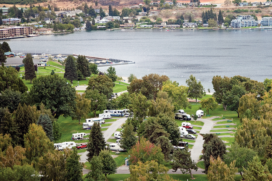 prettiest RV parks in Washington State | City of Chelan Lakeshore RV Park