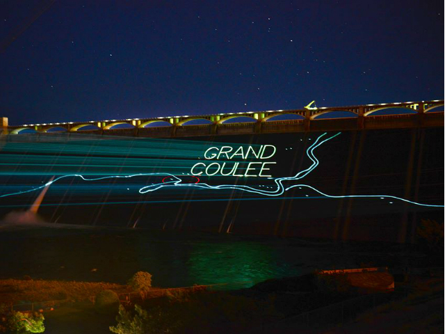 grand coulee dam light show