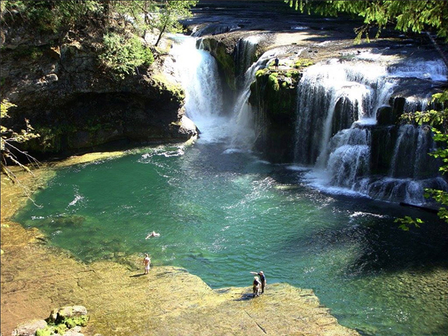 Scenic WA   Best Waterfalls in Washington State   Lower Lewis Falls