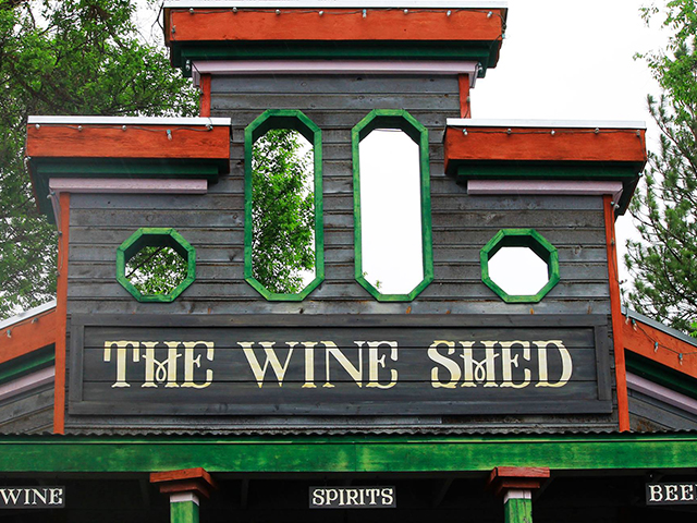 The Wine Shed in Downtown Winthrop