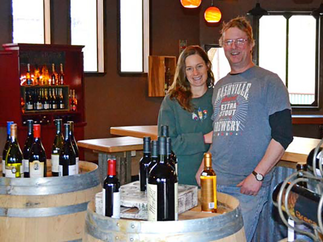 Wine Shed Owners Meghan Sullivan and Dave Swenson