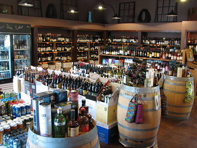 Wine Shed Retail offers wine, beer and distilled liquors