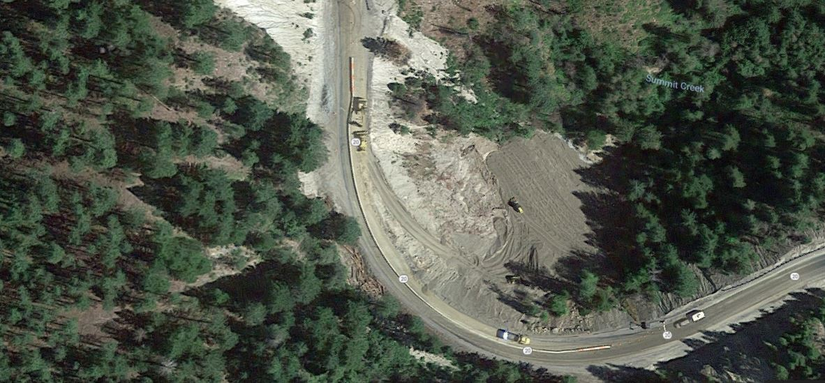Hwy 20 Road Washout