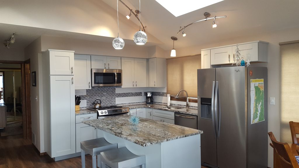 Open Concept Kitchen, Living & Dining