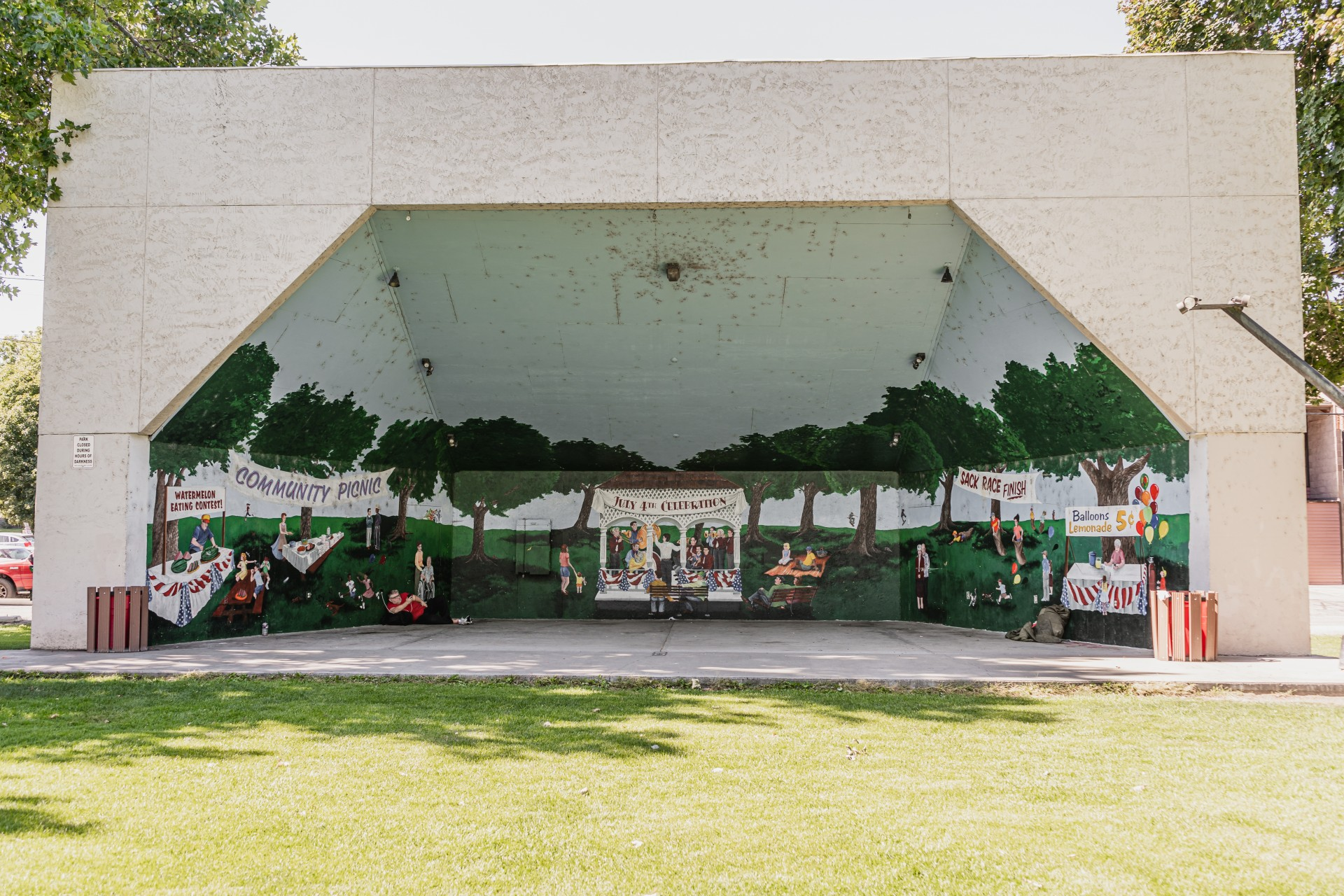 Civic League Park & Fourth of July Picnic Mural