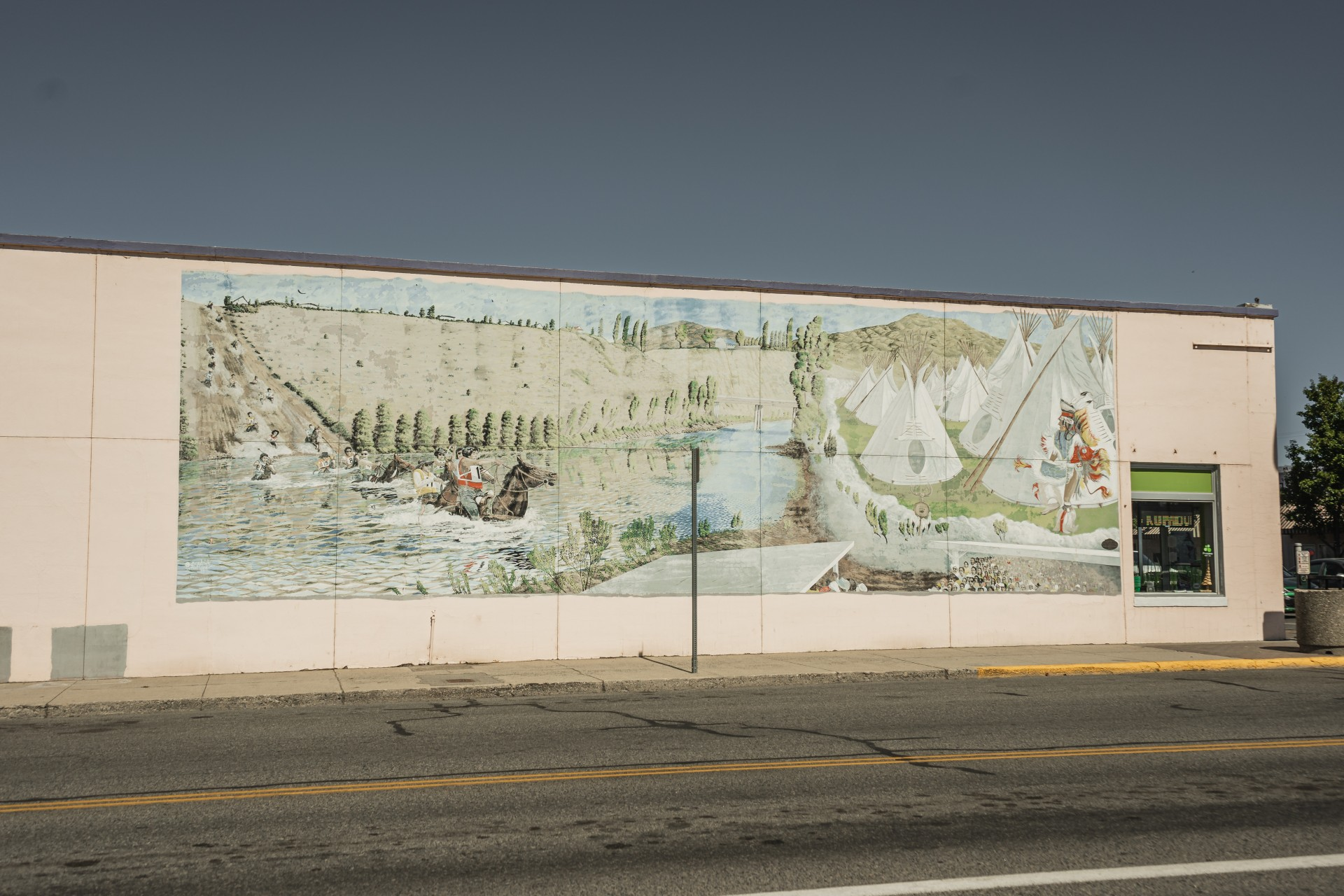 Spirit of Omak Mural - Central & Main